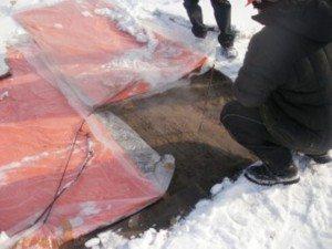 Термомат для грунта: быстрый и эффективный способ в зимнее время оттаять мерзлый грунт