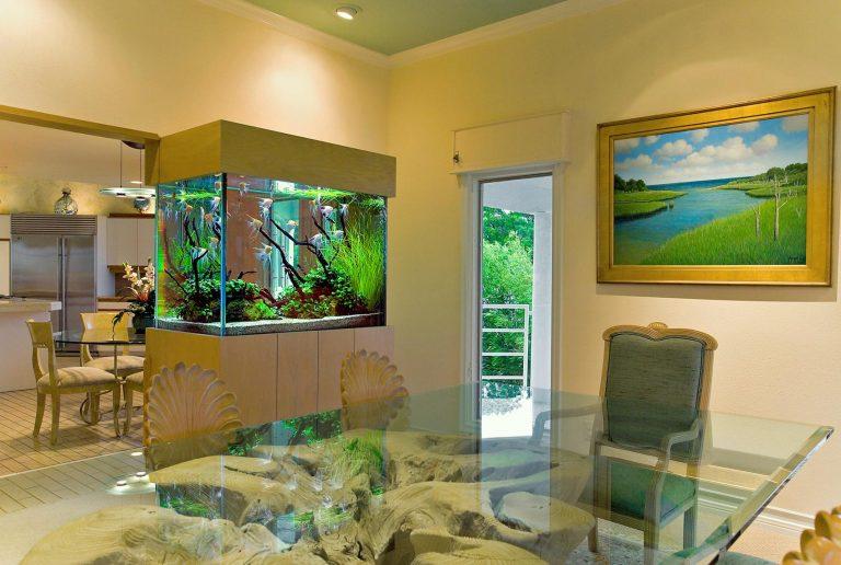 Какую же роль может играть аквариум в интерьере?