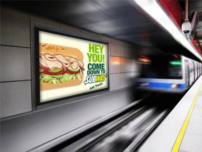 Какая реклама в метро будет эффективной?